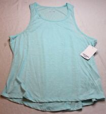 Jockey Women's Baseline Tank Top Shirt Icy Teal Size Large L New NWT