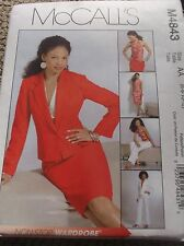 SEWING PATTERN M4843 MISSES PETITE JACKET HALTER TOP SKIRT PANTS SIZE 6 TO 12