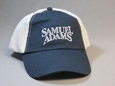 SAMUEL ADAMS BEER HAT BALL CAP navy/white net back boston brewing brewery NEW