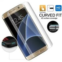 FULL COVER SCREEN PROTECTOR HD CLEAR CURVED LCD FILM for Galaxy S7 Edge Phones