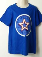 BOYS CONVERSE BLUE WHITE RED SHORT SLEEVE T-SHIRT AGE 6-7 YEARS