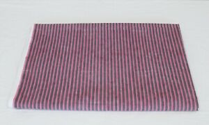Indian Purple Striped Lined Printed Dressmaking Fabric Curtains Fabric 5 Yard US