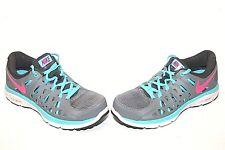 NIKE Dual Fusion Run 2 Womens Sz 7 Running Shoes Gray Pink Blue 599564-064 54e3b21ca