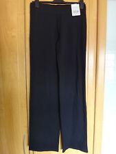 M & S Algodón Elastizado Tirar Pantalones Tamaño 8 Recta Largo Bnwt