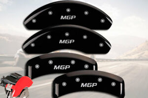 "2004-2009 Toyota MARK X Front + Rear Black ""MGP"" Brake Disc Caliper Covers"