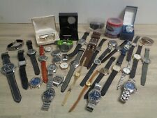 Bundle Of 38 Watches And Watch Faces Sekonda Seiko Ellesse Swatch Fossil