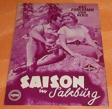 """altes Film/Kinoprogramm """"SAISON IN SALZBURG"""""""