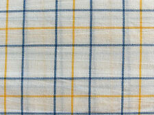 RETIRED PATTERN~NEW~NAUTICA KING Fitted Sheet YARN DYE REGATTA PLAID Yellow Blue