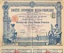 RUSSIA FRENCH COTTON COMPANY stock certificate 1900