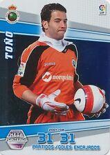 N°401 TONO # RACING SANTANDER TRADING CARD PANINI MEGA CRACKS LIGA 2009