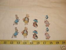 8 Beatrix Potter Peter Rabbit Fabric Applique Iron On 2