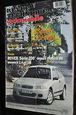 Revue technique automobile Rover série 200 essence N° 612