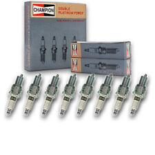 8 pc Champion 7415 Double Platinum Spark Plugs RN9PYP - Pre Gapped Ignition ul