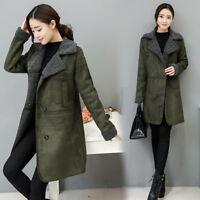 EG_ Women's Winter Warm Fluffy Long Coat Fleece Ladies Fur Jacket Outerwear Exot
