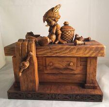 Disney Parks Pinocchio on Geppetto's Workbench Heirloom Trinket Box Olszewski