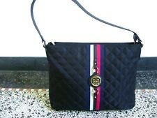 TOMMY HILFIGER Tasche Damentasche schwarz gold blau rot weiß Stoff Kunst-Leder