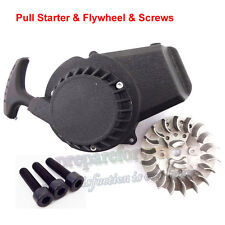 Flywheel Alloy Pull Starter For 47 49cc Mini Scooter Dirt Bike Quad ATV Minimoto
