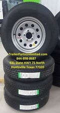 """4) ST225/75R15 10-Ply Contender Radial Tire on Silver Mod Wheel 5x4.5"""""""