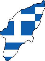 """Auto Aufkleber """"Rhodos"""" Griechenland Greece 11cm Decal Vinyl Sticker konturg."""