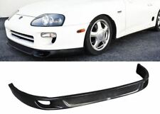 For 93-98 TOYOTA SUPRA V2 FRONT BUMPER LIP PROTECTOR ADD ON POLY URETHANE BLACK