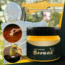 Wood Seasoning Beewax Complete Solution Furniture Care 100% Beeswax HOT Nat New