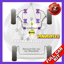 Renault Clio I Inc 16v (90-98) Powerflex Complet Bush Kit
