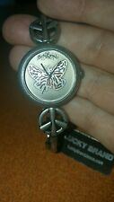 Silver Toned Lucky Brand Watch with Peace Signs.  New, with Tag