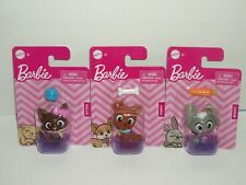 Mattel Barbie Pets Bunny, Kitten, Puppy Animals with Basket & Accessory Lot New