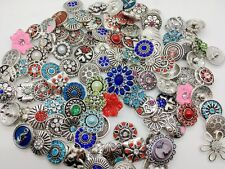 Wholesale 18mm Snaps Button Mix Rhinestone Chunk Style Diy Ginger Snap Jewelry