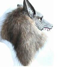 New Adult Masquerade Costume Stage Party Photo Prop Creepy Wolf Head Mask Kit X1