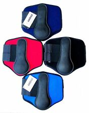 HORSE BRUSHING BOOTS NEOPRENE PADDED LEG PROTECTION BNWT 4 COLOUR BY AMIDALE