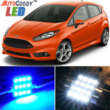 11 x Premium Blue LED Lights Interior Package for 2011-2017 Ford Fiesta + Tool