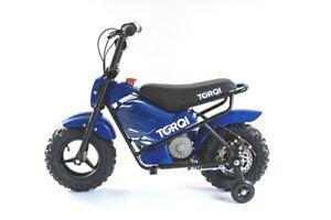 Torqi 250W Mini Bike Childrens Kids Electric 24V Monkey Dirt Bike Motorbike Blue