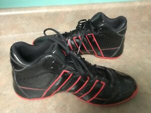 Men's Adidas G21698 Black & Red Sneakers Shoes Size 13 (CON56)