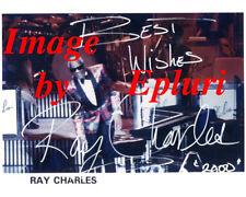 Ray Charles 8x10 Color Photo Preprint Autograph Reprint