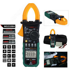 MS2108A 4000 Counts LCD AC/DC Current Voltage Diode Digital Clamp Meter Tester