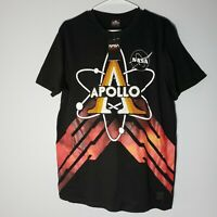 NASA Apollo Southpole Shirt Mens Large Black Red ASTRONAUT Embroidered New NWT