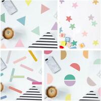 Pastell farbige Aufkleber Set DIY Wandtattoo Punkte Sterne Striche Sticker Deko