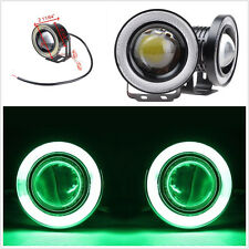 2 Pcs 2.5'' Car W/COB Halo Angel Eyes Rings DRL Fog Light Driving Projector Lamp