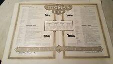 1908 Thomas Motor Car Catalog Flyer Special Detroit Town