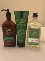 Bath & Body Works AROMATHERAPY Stress Relief Eucalyptus Spearmint - Lot of 3