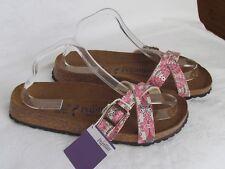 NEW Papillio By Birkenstock Ladies Pink SOFT FOOTBED Mules Sandals Sze 7.5 EU 41