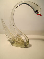 Schwan Vogel  Glasfigur Tier Figur  Lauscha Thüringen, 17  cm   hoch