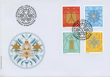 Switzerland Christmas Stamps 2019 FDC Decorations Candles 4v S/A Set