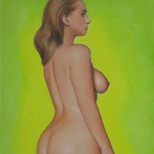Female Nude Study #4760 Pastel Painting