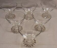 "6 VINTAGE BERWICK ""BOOPIE"" BUBBLE 3 1/2"" - 6 OZ  STEMMED SHERBET GLASSES"