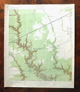 1920 Houston Texas Antique USGS Topo Map Fauna Cloverleaf Shelden Jacinto City