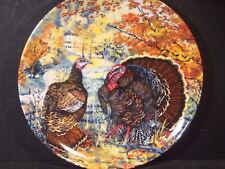 Upland Birds of N America Wild Turkey Wayne Anderson 1987 Ltd Ed Plate