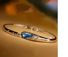 Women's Trendy Silver Filled Romantic Vintage Zircon Crystal Fashion Bracelet