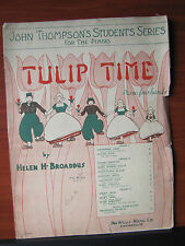 Tulip Time by  Helen Broaddus  1936 sheet music -  Piano four hands